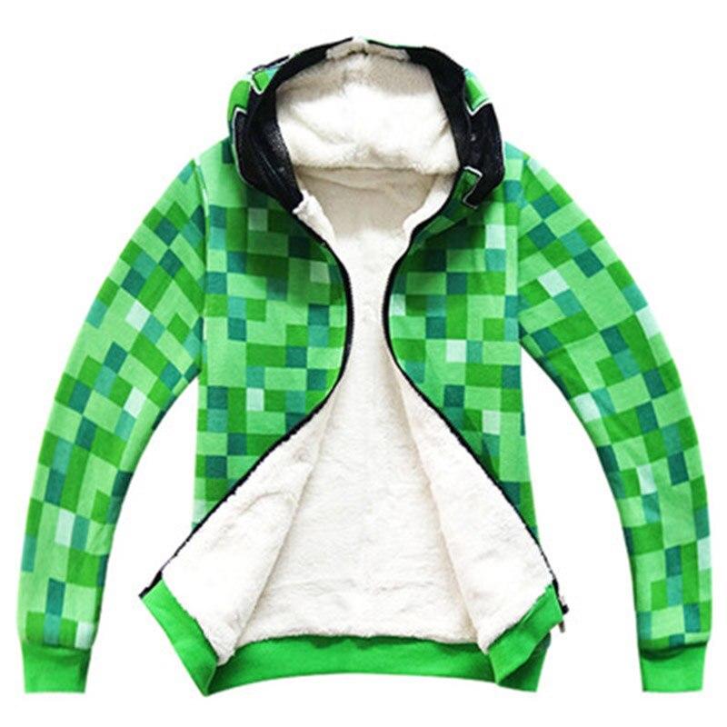 Kids Children Halloween Green Cosplay Costume Funny Witer Hoodie Sweatshirt Birthday Party Jacket Outwear