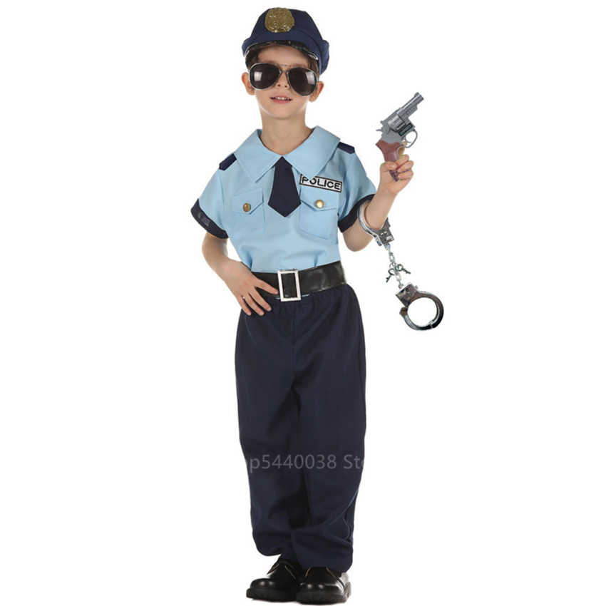 Police Cop Sheriff Officer Military Handcuff Toy Child Kid Role Play Costume