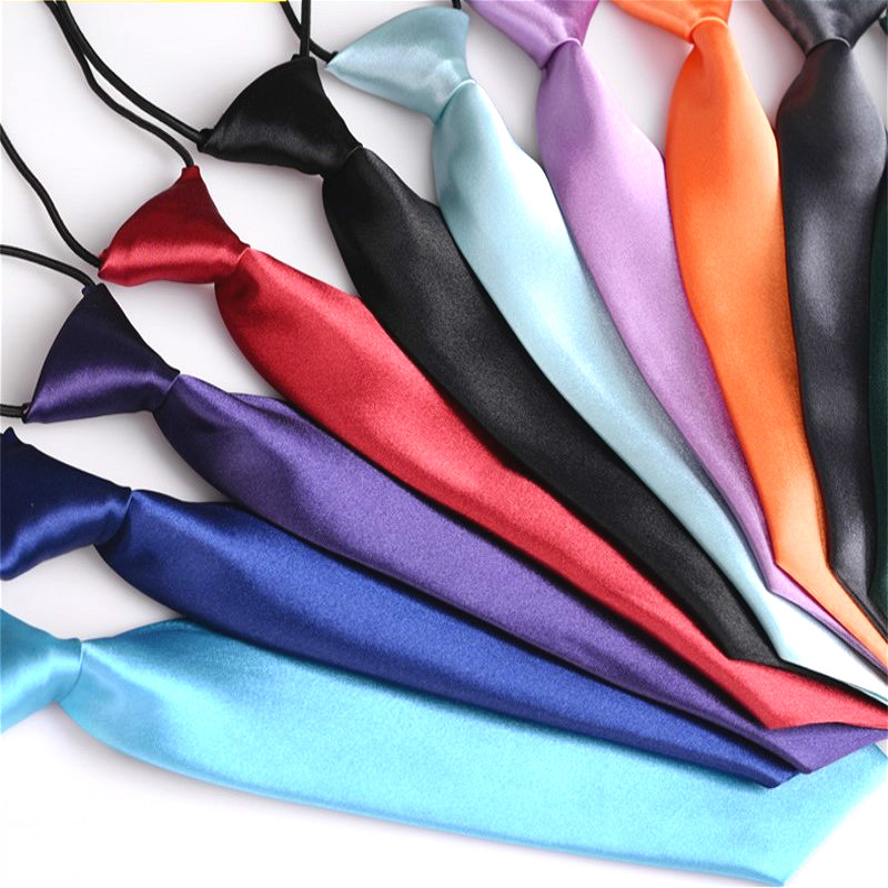 Children's Small Tie Fashion Boy's Unisex Kids Student Shirt School Uniform Classic Trendy Solid Color 27cm Short Necktie Gifts