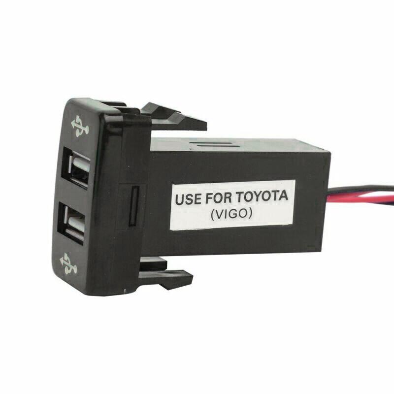 Автомобильное быстрое зарядное устройство с 2 портами USB, аксессуар для Toyota Fortuner Hilux 2005-2014
