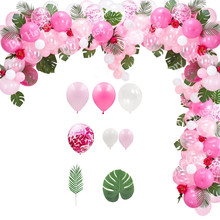 1 conjunto flamingo tema balão arco rosa verão abacaxi bolas festa de casamento decoração feliz aniversário crianças presente diy casa suprimentos