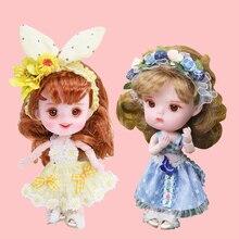 1/12 BJD doll 26 wspólne body ob11 mini lalka z ubrania buty 14cm śliczne prezent dla dzieci zabawki, niestandardowe lalki DIY moda lalka