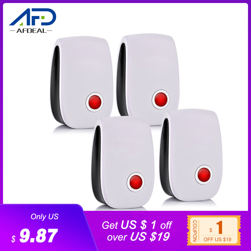 4pcs/set Electronic Ultrasonic Pest Repeller Mosquito Rejector Mouse Rat Mouse Repellent Anti Insect Mosquito Repeller Killer-in Repellents from Home & Garden
