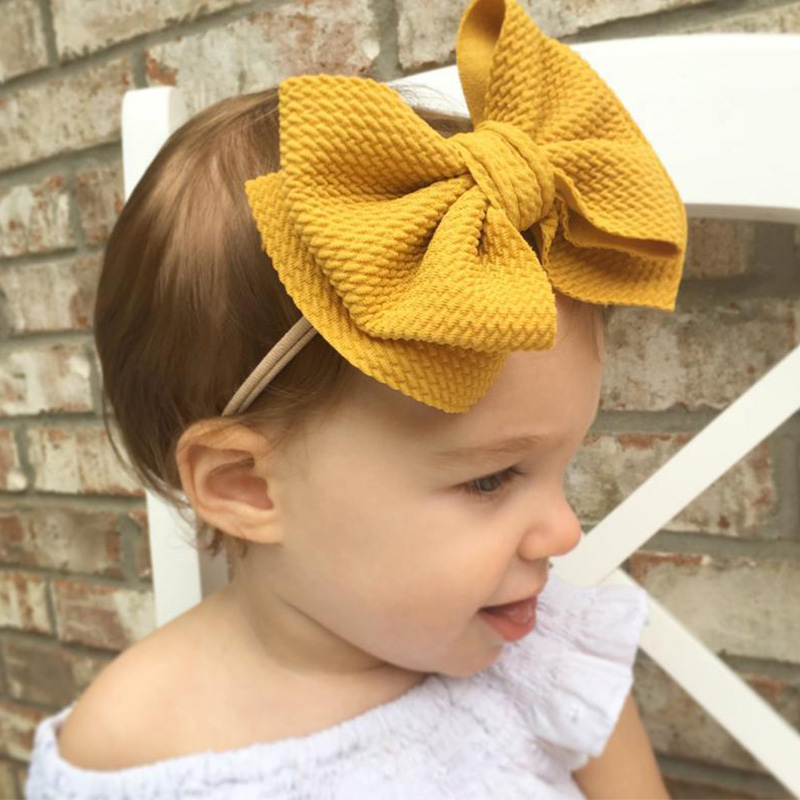 Baby Girl Headbands Kid Headwear For Girls Turban Baby Haarbandjes Baby Bows Headress Nylon Bow Hair Accessories