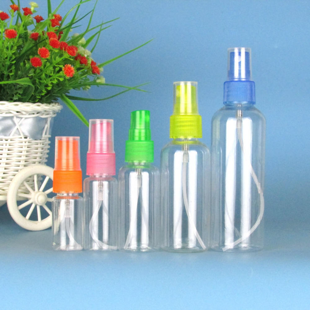 1PC 10/20/50/100ml Refillable Spray Bottle Empty Cosmetic Containers Plastic Atomizer Portable Travel Perfume Bottle