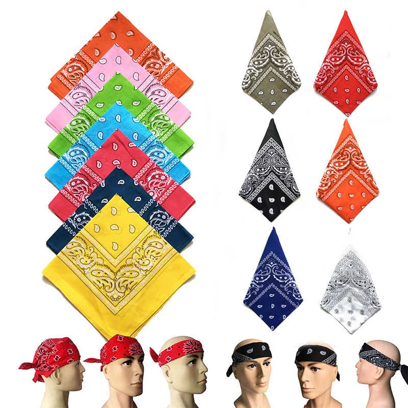 Square Bandanna Side Head Wrap Headband Neck Scarf Wristband 55cmX55cm L