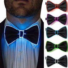 Новинка, Рождественский мужской галстук, мигающий светильник, светодиодный галстук-бабочка с проводом, El галстук, светильник, галстук-бабочка, Свадебные Рождественские светящиеся вечерние принадлежности