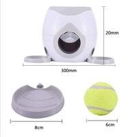 Interactive Fetch Ball Tennis Launcher Dog Pet Toys Food Reward Machine new