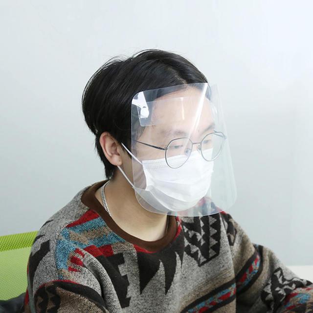 3Pcs/Set Protective Face Shield Clear Visor Anti Fog Saliva Dustproof Full Cover Full Face Cover Anti-Fog Shield 4