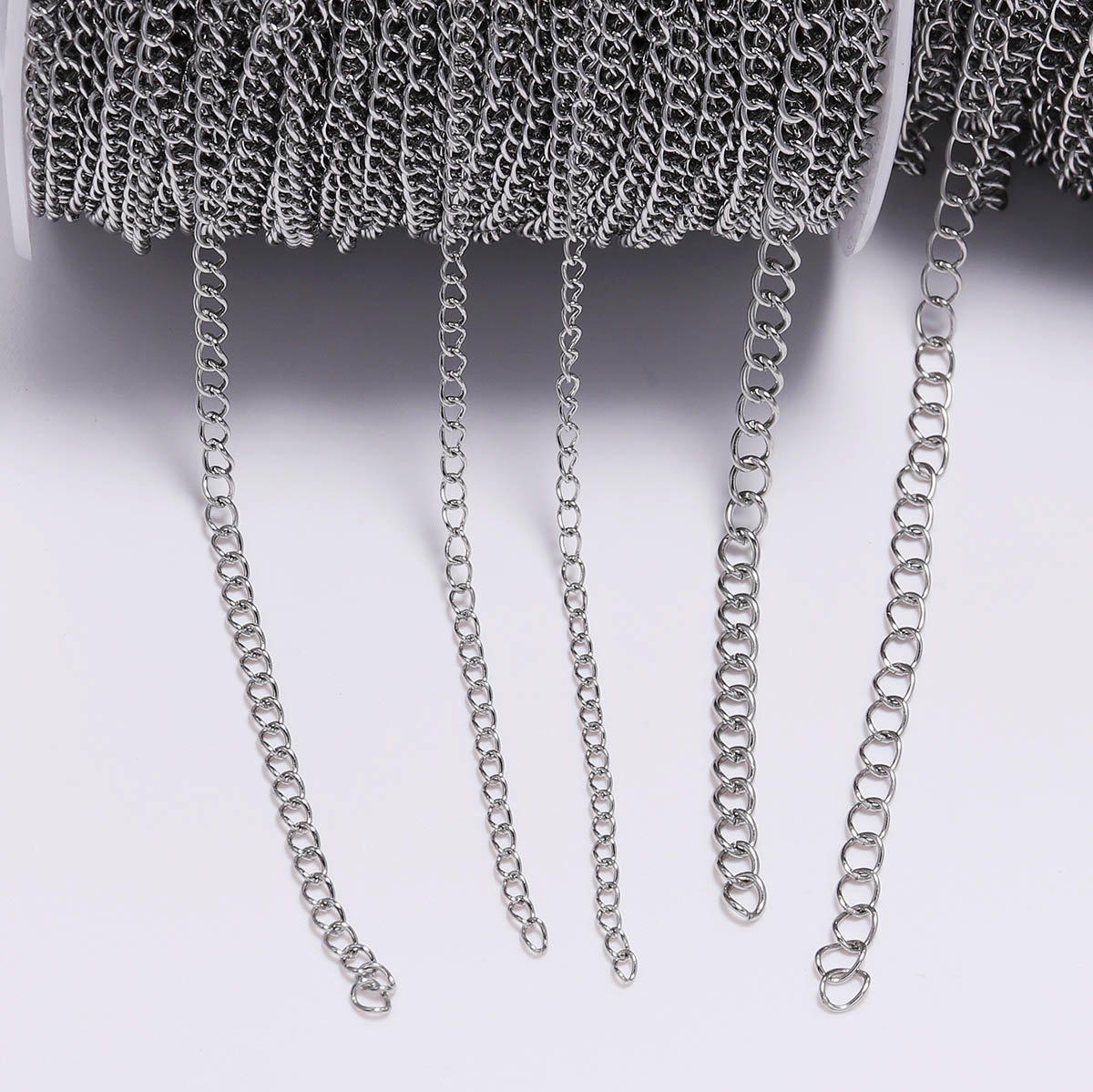 5m/Lot 1.2 2.2 2.4 3.0 4.0 Mm Stainless Steel Bulk Jewellery Chain For DIY Jewelry Making Necklace Earring Findings Accessories