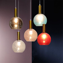 Fashion europe lamp ball glass pendant light colorful  LED indoor lighting ceiling dinning living room hanging lighting fixtures decorative christmas gift colorful balloon kids child ceiling acrylic cute pendant lights lamp lighting round ball hanging light