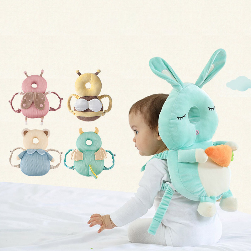 Baby Toddler Pillow1Pcs Cartoon Pattern Anti-fall Pillow Portable Kids Head Protection Pad Breathable Cute Toddler Headrest