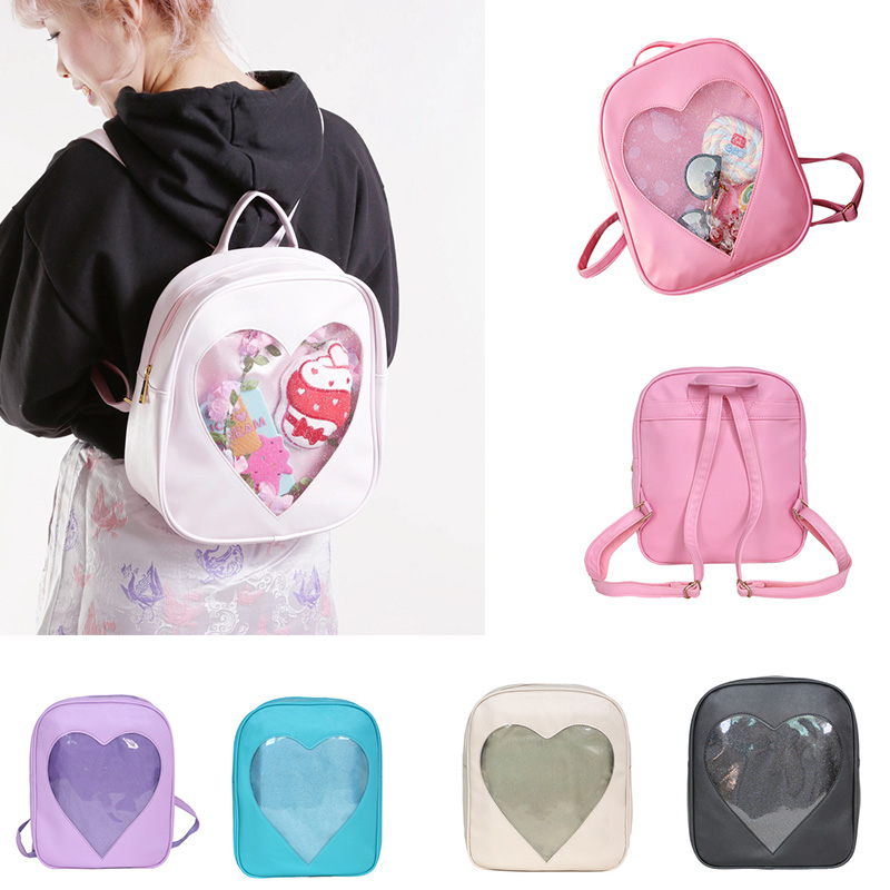 Cartoon Kindergarten Schoolbag Pu Heart Backpack High Capacity Bag Trixie Backpack Zainetto Bimba Sheer Cute Multicolor Backpack