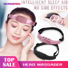Electric Head Massager Sleep Monitor Migraine Relief Massager Insomnia Therapy Release Stress Sleep Therapy Device Sleeping Di цена 2017