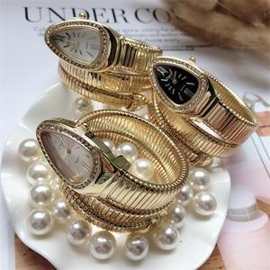 Image 4 - Cool Snake Bangle Watches Women Fashion Infinity Bracelet Watch Vogue Girls Brand Quartz Clock Religios Reloj Montre femme NW404