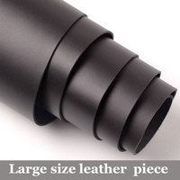 Large big size thick first layer genuine leather Sewing Material DIY Patchwork Belt Bag 2 mm good real cowhide black skin