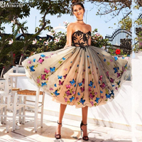 A Line Tulle Butterfly Appliques Short Homecoming Dresses 2020 Party Dress Prom Gown Vestidos De Fiesta Formal Special Occasion