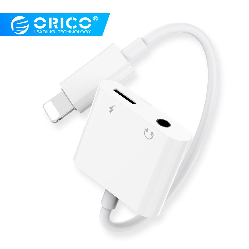 ORICO Headphone Splitter Adapter For Iphone X XS 3.5mm Jack Audio Adapters Converter Earphone Aux Cable For Iphone 7 8 Plus