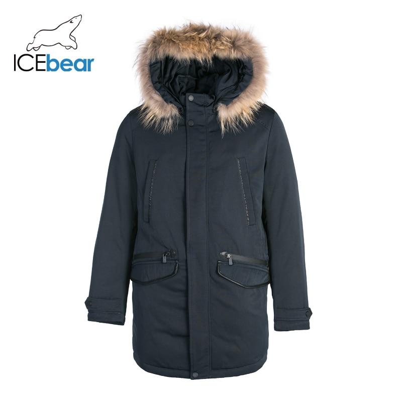 ICEbear  Down Jacket Men Winter New Long Handsome Male Jacket High Quality Warm Outwear Coats For Men  MPN317938