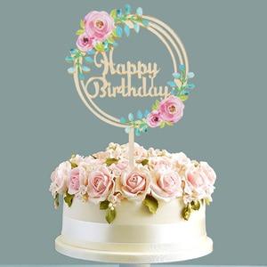 Image 4 - Листик для торта с тропическими листьями, верхушка для кексов, Летняя Вечеринка, джунгли, день рождения, гавайская вечеринка, украшение для торта