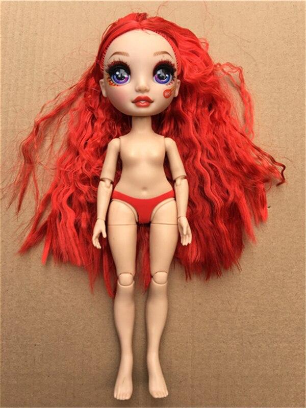 Оригинальная цветная головка куклы с большими глазами, фиолетовая, зеленая, оранжевая, синяя, желтая, головка куклы с подвижными суставами д...
