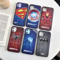 Los Vengadores teléfono carcasa para iPhone 6 6s Plus 7 8 X XS X MAX XR de silicona TPU cubierta mate para iPhone 11 11 Pro Marvel DC Superman, Batman,