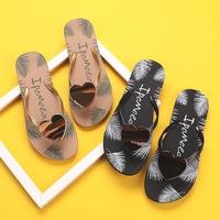 Zapatillas planas con forma de corazón para mujer, chanclas cruzadas en la parte superior, antideslizantes, para exteriores, playa, Verano