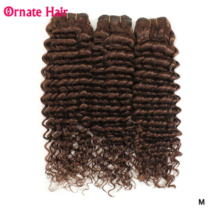 Short Brazilian Deep Wave Bundles Human Hair Weave Bundles Non-Remy Pre-Colored 1/3/4pcs/Lot Ornate Hair 8-10 Inch