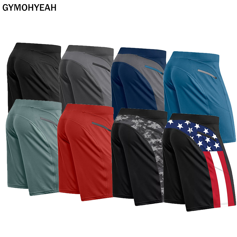 GYMOHYEAH 2020 New Men Gyms Fitness Bodybuilding Shorts Mens Summer Casual Cool Short Pants Male Jogger Workout Beach Shorts
