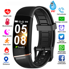 bounabay blood pressure smart bracelet watch for women watches ladies clock bluetooth waterproof android ios woman touch screen ip67 waterproof Color screen blood pressure women smart watch ksun men Heart Rate Band Bluetooth Bracelet for ios Android Phones