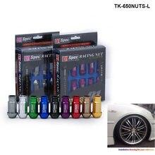 D1spec Racing jdm Billet Aluminium Car Wheels Rims Wheel Lug Nuts M12X1.5 Or M12X1.25, L:52mm 20PCS/SET 650NUTS-L