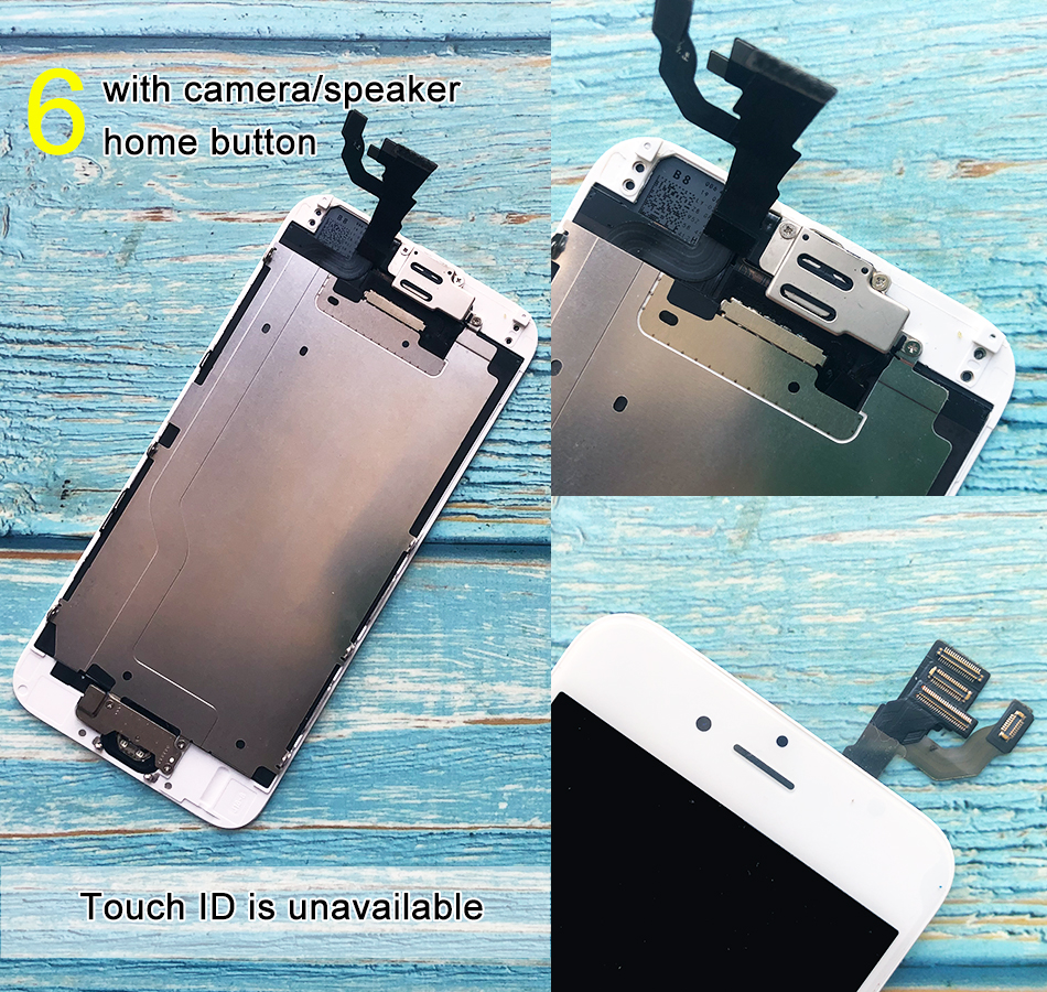 H8939ae9dcbe844b097e438c7cdb2a446H For iPhone 6 LCD Full set Assembly Complete Touch For iPhone 6S Screen Replacement Display For iphone 7 lcd camera+home button