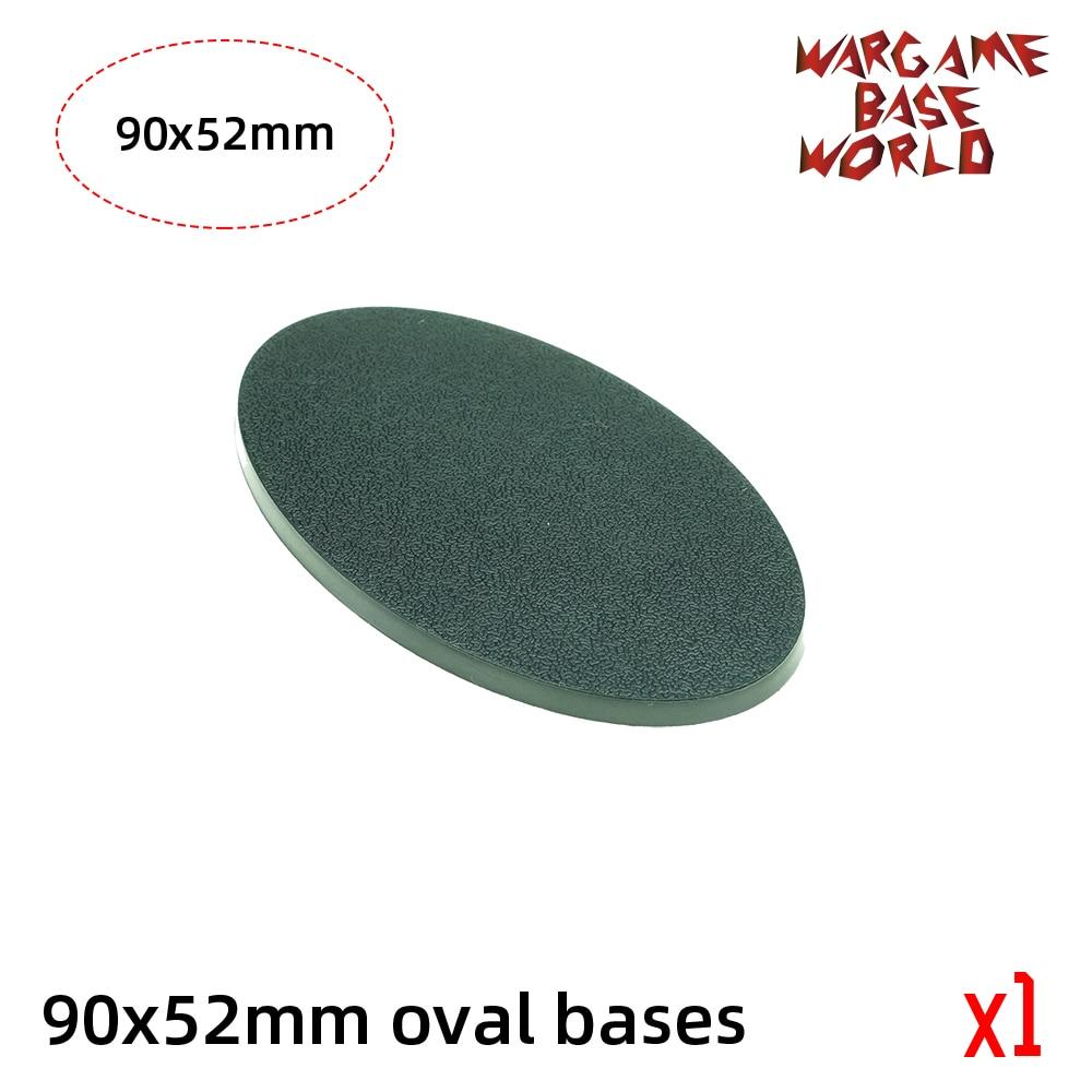 Wargame Base World -90 X 52mm Oval Bases For Warhammer