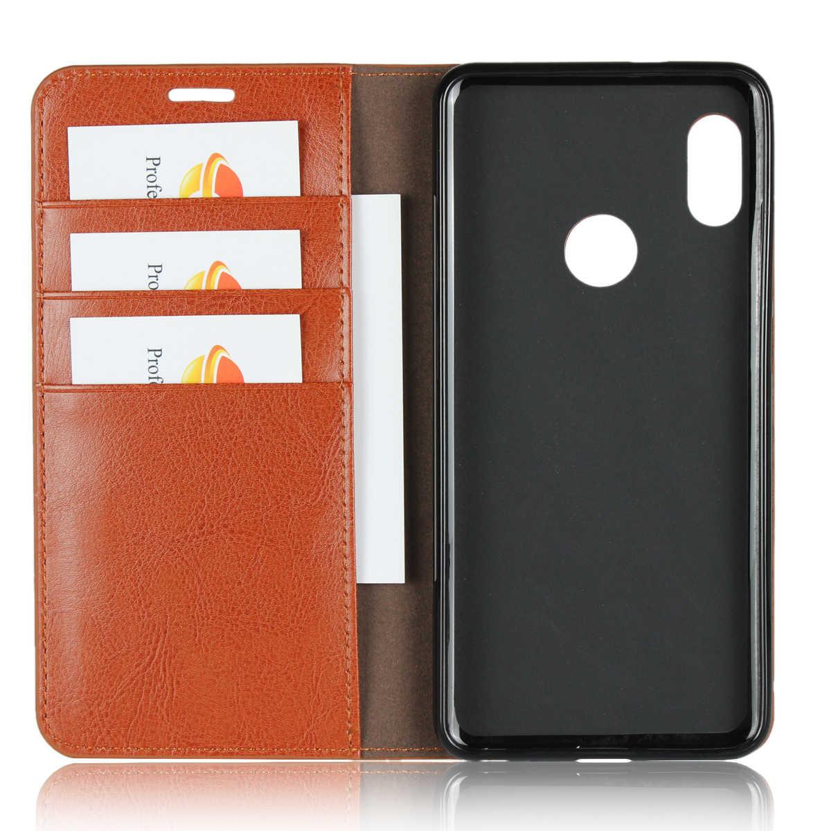 טבעי אמיתי עור עור Flip ארנק ספר טלפון מקרה כיסוי על לxiaomi Redmi הערה 5 פרו Note5 5Pro הגלובלי 32/64 GB Xiomi