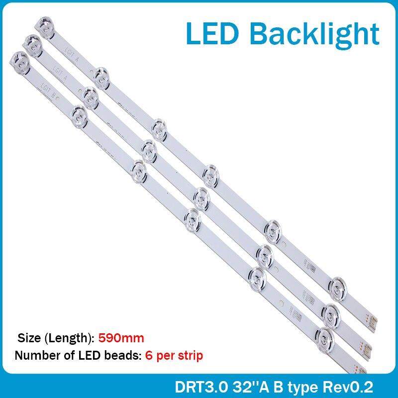 100% NEW Original 59cm LED Backlight 6LEDs For LG Innotek Drt 3.0 32
