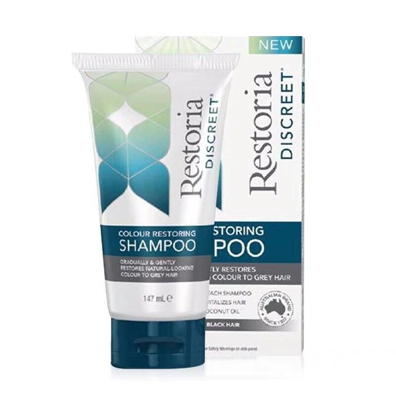 Australia Restoria Discreet Colour Restoring shampoo Lotion Hair Care 147ml Reduce Grey Hair Conditioner Suitable for Men Women