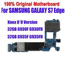Europa Offizielle version Logic Board Knox 0*0 für Samsung Galaxy S7 G930F G935F Singel SIM G935F G935FD 32GB Motherboard