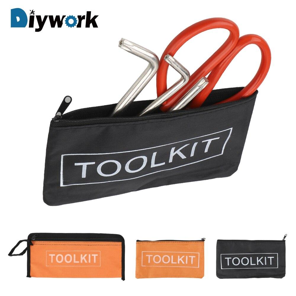 DIYWORK Multi-function Small Tool Bag Hardware Toolkits Storage Bags Zipper Canvas Oxford Tools Organizer Portable