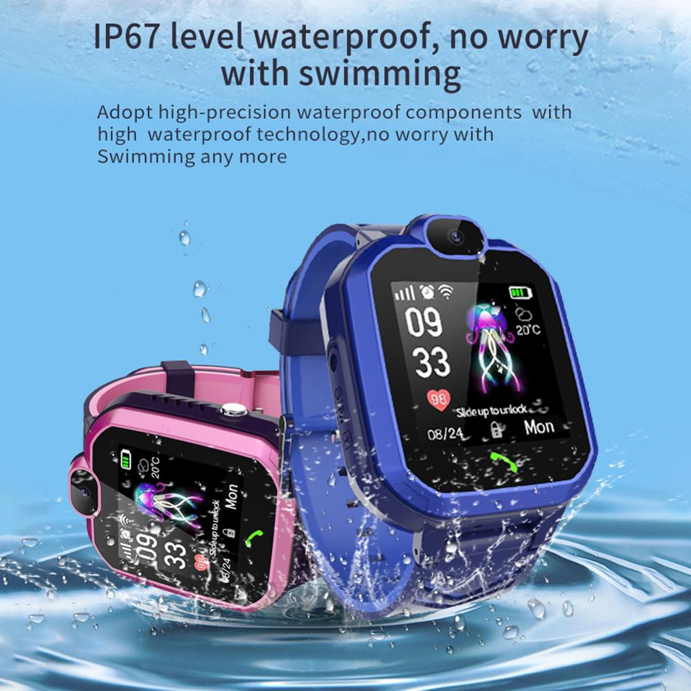 Children waterproof <font><b>smart</b></font> <font><b>watch</b></font> phone positioning student Bluetooth music anti-lost weather reminder <font><b>watch</b></font> image