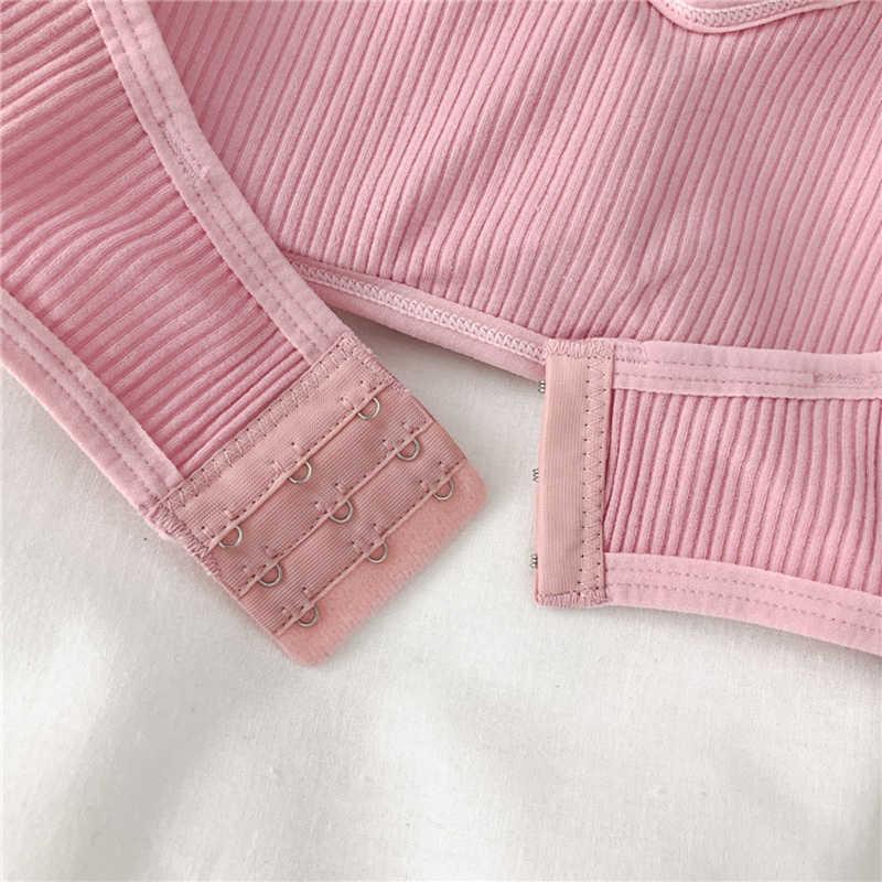 Sexy Strapless Bra untuk Wanita Kawat Gratis Warna Solid Bra Wanita Nyaman 3/4 Cangkir Satu Potong Bra Wanita pakaian Dalam Wanita