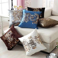 45x45cm Luxurious Bronzing Pillow Case Sofa Car Cushion Cover Home Decoration
