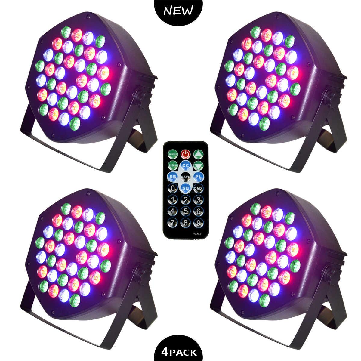 HA CONDOTTO LA Luce Par 36 in 1 RGB DJ Luce Par Discoteca Luce per la Mini Patti KTV Fase di Illuminazione, festa di famiglia, Regolatore di DMX Effetto