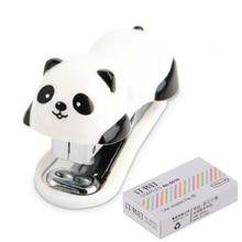 Модный степлер для панды, со стальными зажимами 10 мм, канцелярские принадлежности, принадлежности для школьной формы