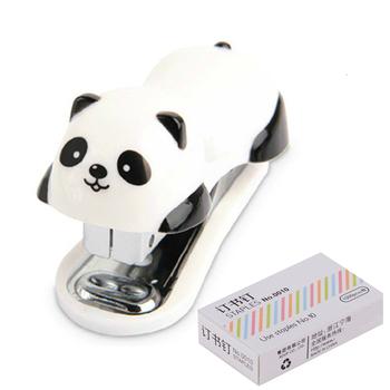 Zestaw modnego zszywacza do zszywacza panda ze stalowymi klipsami 10mm materiałami biurowymi mundurami szkolnymi tanie i dobre opinie Lytwtw s P891 Mining Mini zszywacz Instrukcja Z tworzywa sztucznego 23 12 60mm * 30MM * 40MM Office Binding Supplies Fashion Staplers