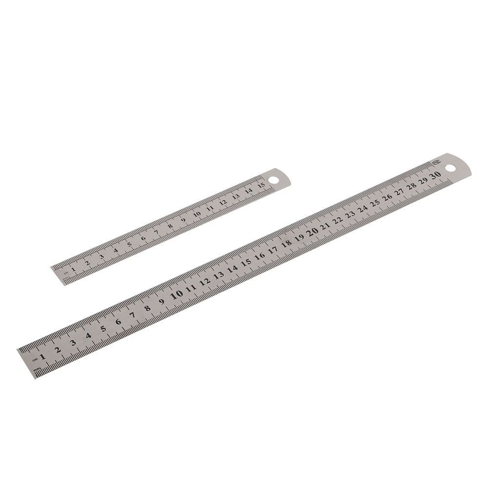 1 Pc Stainless Steel Double Side Straight Ruler 15cm/6 Inch 30cm/12 Inch Metric Ruler Stationery Supplies