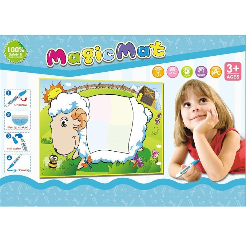 Rainbow Color Water Canvas Children Large Size Magic Doodle Magic Doing Homework Blanket Early Childhood Educational Water Write