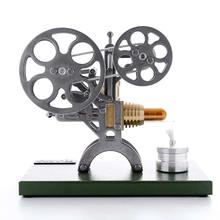 Stirling Retro Projector Engine Stirling Engine Motor External Combustion Engine Science Educational Model Toy with Metal Base(China)