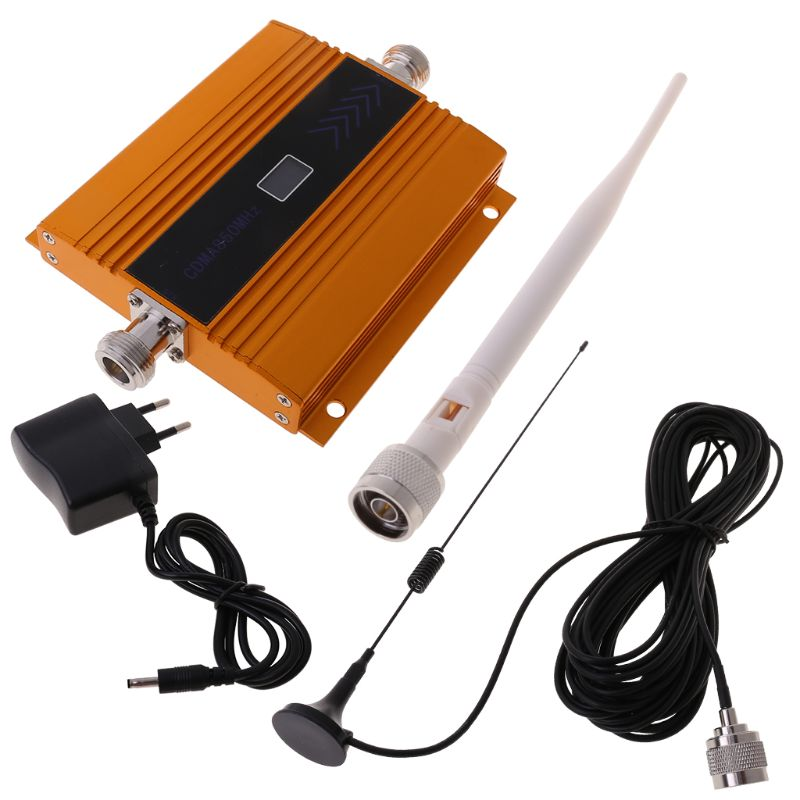 1 Set 850MHz GSM 2G/3G/4G Signal Booster Repeater Amplifier Antenna For Mobile Phone Signal Receiver
