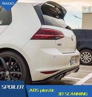 For Golf 7 MK7 Spoiler 2014 2018 Golf GTI R ACS ABS Material Car Rear Wing Color Rear Spoiler For Volkswagen Golf 7.5 Spoiler