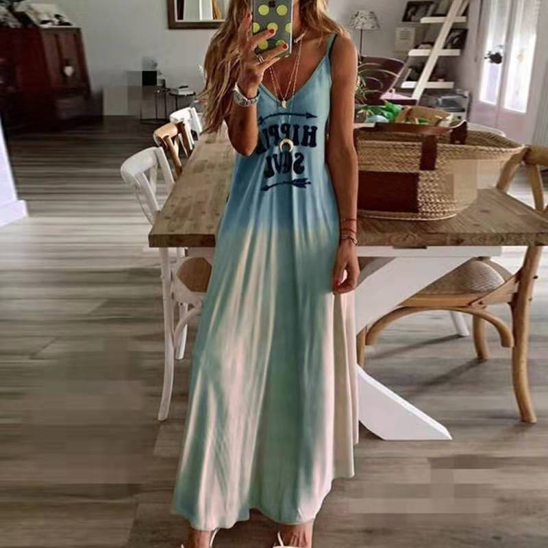 Ladies Casual Loose Band Dress Color Summer <font><b>Sexy</b></font> Boho Bow Camis Befree Long Dresses Plus Size <font><b>6XL</b></font> Large Dress Robe Femme 2020 image